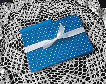Bright Blue and white polka dot index card dividers