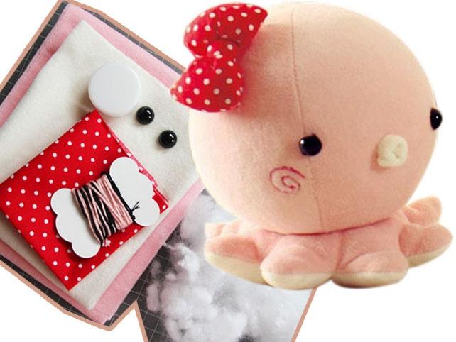 Süße gefüllte Oktopus Puppe Babyspielzeug Nähen Kits Muster | Etsy