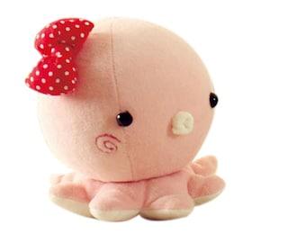Octopus Plush Toy PDF Pattern Download Baby Toys Cute Octopus Pattern Tutorial Sewing Pattern, Animal Plush Stuffed, sewing instruction