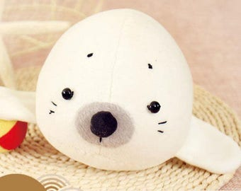 Seal Plush Toy PDF Pattern Instant Download Baby Toys Cute Stuffed Animal Pattern Tutorial Sewing Pattern, sewing instruction