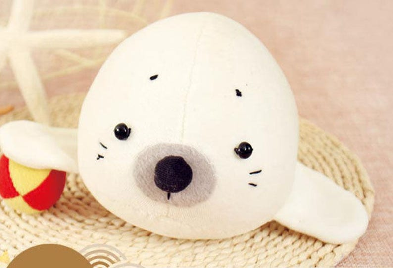 4a3d6c3b1fe8 Seal Plush Toy PDF Pattern Instant Download Baby Toys Cute | Etsy