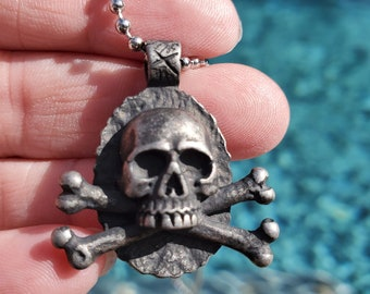Skull Necklace  Antique Silver Human Skull Pendant Gothic Jewelry Delicate Skull Skeleton necklace Skeleton Necklace  Medical School Gift