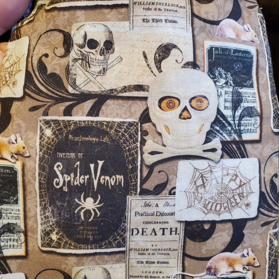 Anatomical Skeleton Print Tarot Bag-Rune Bag-Dice Bag-Wiccan Coin Pouch-Danse Macabre Drawstring Pouch-Oracle Card Bag