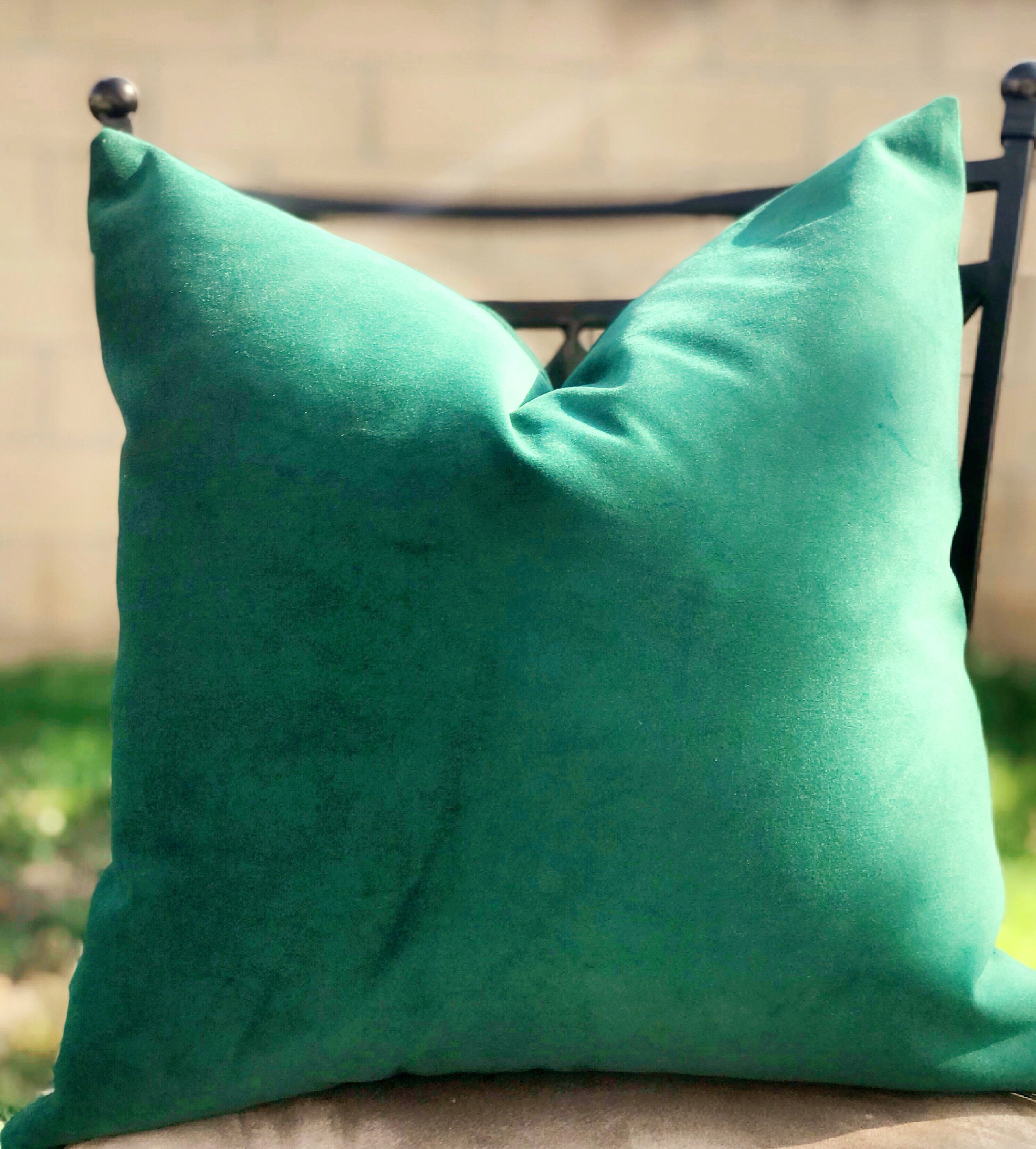 Emerald Green Velvet Pillow Decorative Dark Green Pillow Cover Velvet Green Pillow Cover