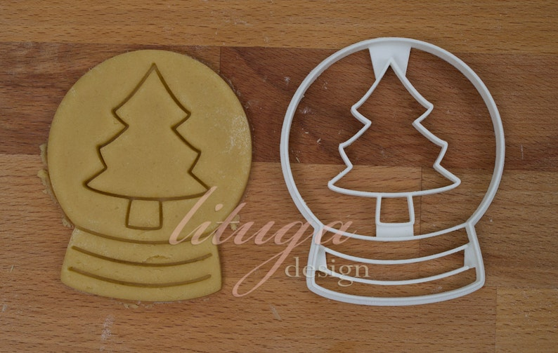 Snow Globe Christmas Cookie Cutter Snow Globe Cookie Cutter Fondant Marzipan Cutter Cupcake Topper Sugar Cookie Snowglobe With Pine Tree