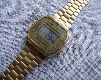 CLEARANCE SALE - Casio Illuminator A168 Alarm Chrono Electro Luminescence gents digital watch