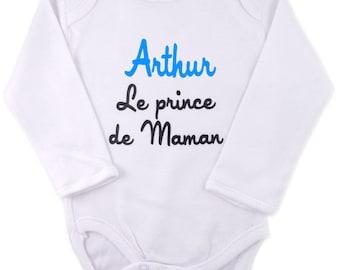 Customizable boy, the prince of mommy Bodysuit