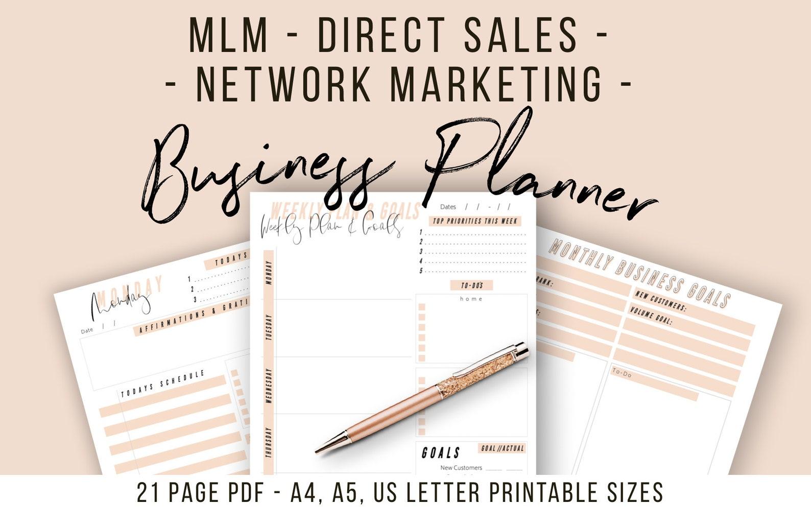 MLM Direct Sales Planner