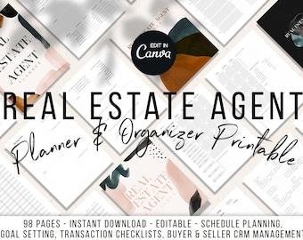 Ultimate Real Estate Agent Planner Printable | Realtor Planner | Real Estate Agent Planner | Planner Printable For Realtors