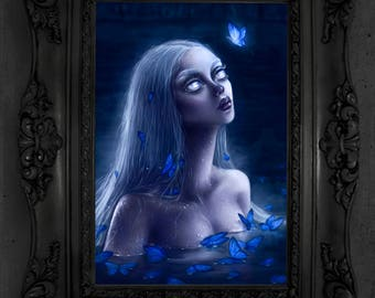 "Pop Surrealism Art Print - Limited Edition Fine Art Print - Lowbrow Wall Decor - Fine Art Print of an Original Painting -  "" Drowned """