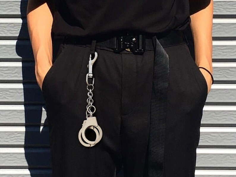 Handcuffs Keychain  Accessory for wallet chains and belts