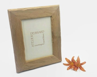 Rustic Picture Frame In Wood Wall Or Table Etsy