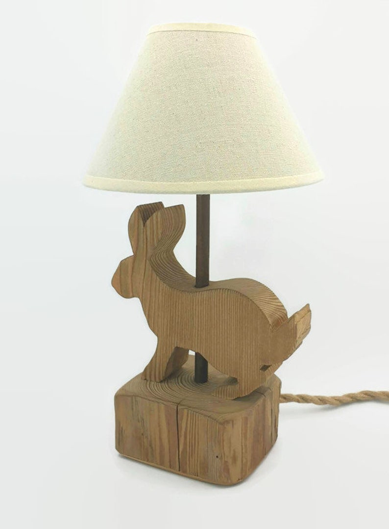 Wooden table lamp image 0