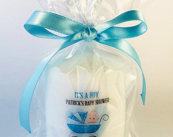 Personalised Christening or Baby Shower Favour Candle