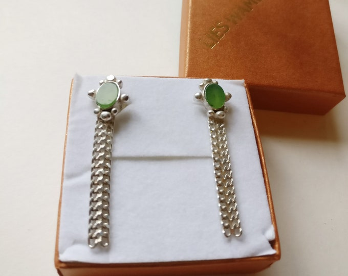 Earring JOSEPHA with JADE .