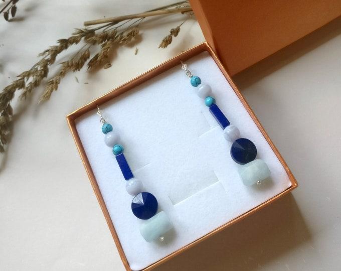 Earring XL BLUE.