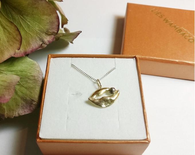 KAURI  pendant + silver chain.