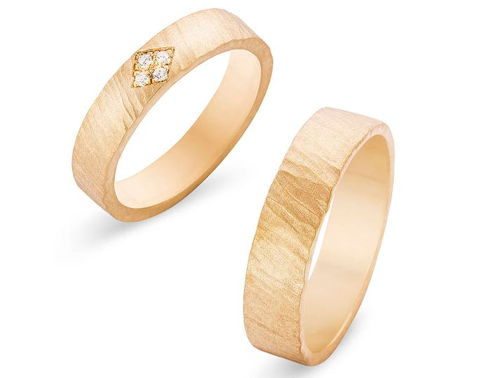 Wedding rings BONNIE and CLYDE.