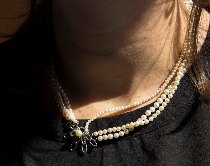 THREE ROWS of PEARLS necklace
