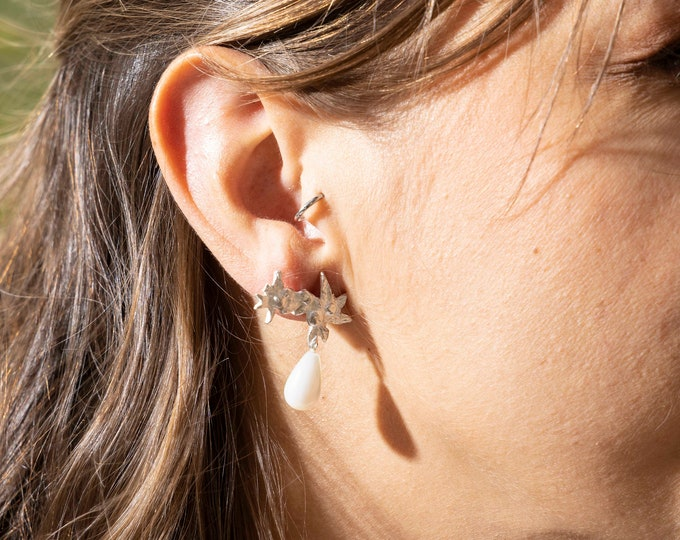 Earring MOTHER OF PEARL drop.