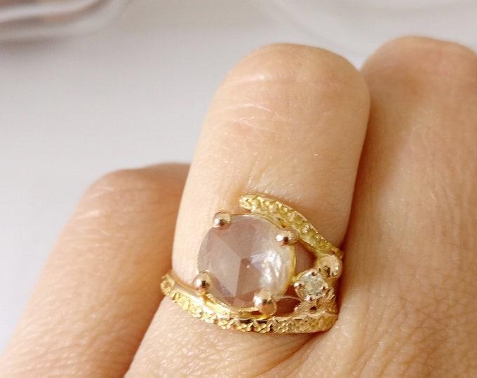 ring ROSE CUT DIAMOND
