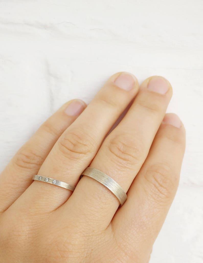 4mm Unique ring Original wedding ring for him Silver SERGE Man ring silver Matt brushed ring Handmade  custom made to fit ring ring