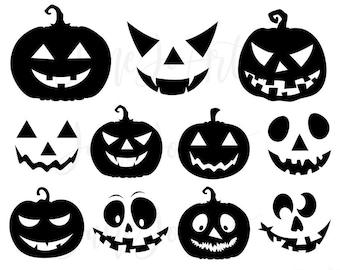 Halloween Jack O Lantern SVG Pumpkin Faces Svgcut Files Cricut Silhouette CameoPumpkin SvgCricutjack Svg Face