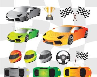50 OFF SALE Race Car ClipartRacingSteering Wheel Clipartracing Vector Helmet Trophy Clipart Flag Clip Art