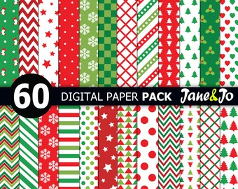 photo about Printable Christmas Paper named Xmas paper Etsy
