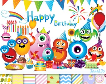 birthday clipart etsy