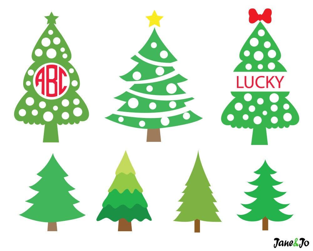 Christmas Tree SvgChristmas Tree Monogram Svgchristmas