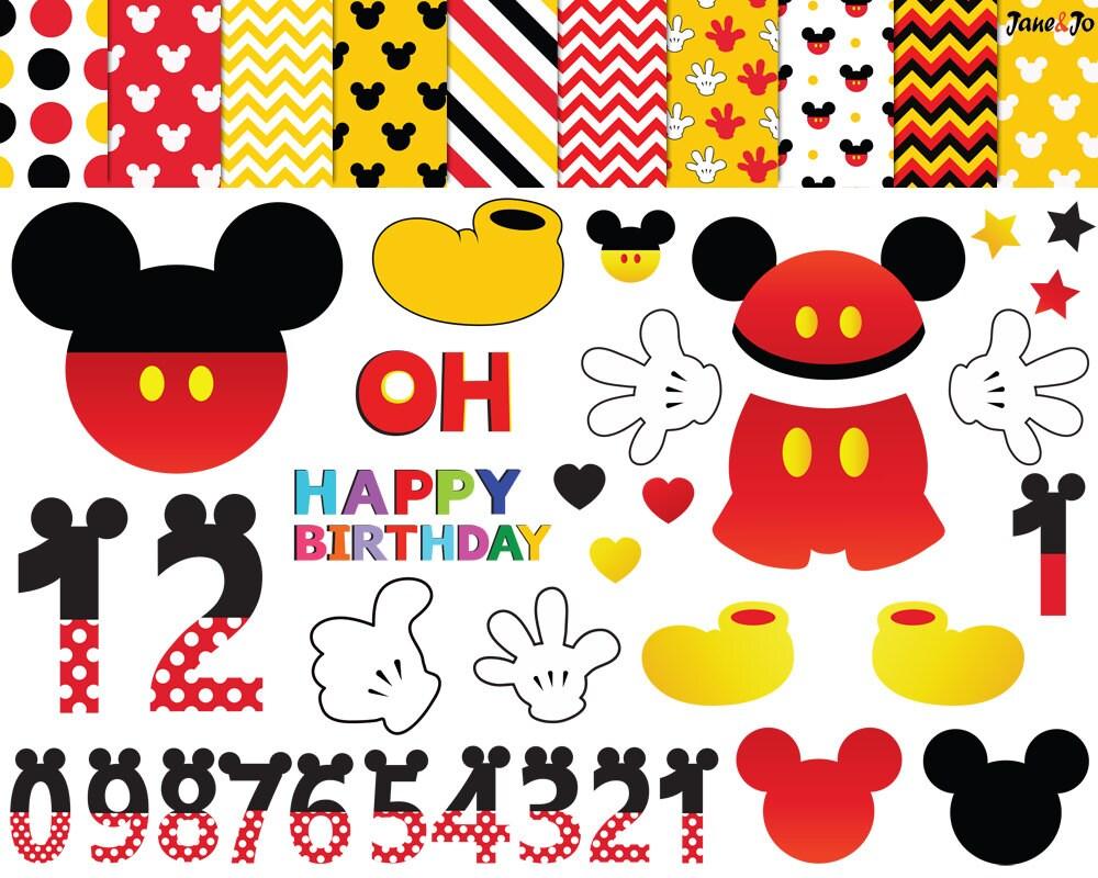 47 Mickey Mouse Imágenes Prediseñadas imágenes prediseñadas | Etsy