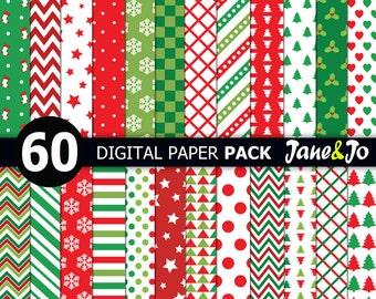 60 Christmas digital paper,christmas printable paper,Christmas digital paper pack,christmas background,Scrapbook paper,Christmas paper