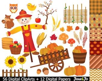56 Fall Clipart  Harvest Clipart Fall Harvest Digital Clipart fall clip art,pumpkin clipart Autumn clipart scarecrow clipart harvest clipart