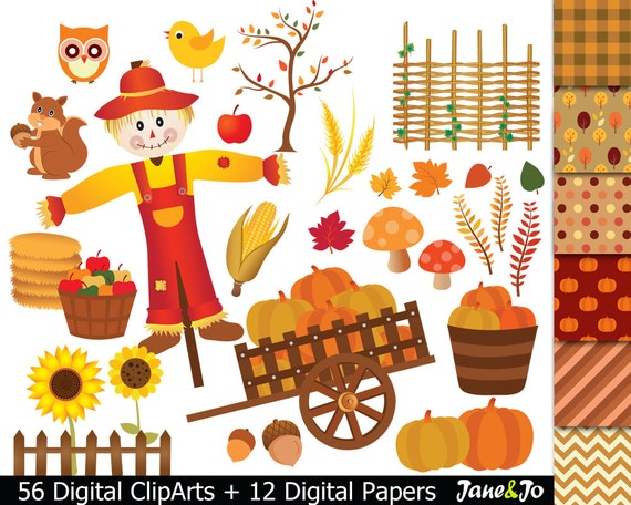 56 Fall Clipart Harvest Clipart Fall Harvest Digital ...