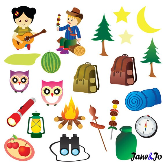 camping clipart camping party clipart glamping camp clip etsy rh etsy com camping clipart kid camping clipart for kids