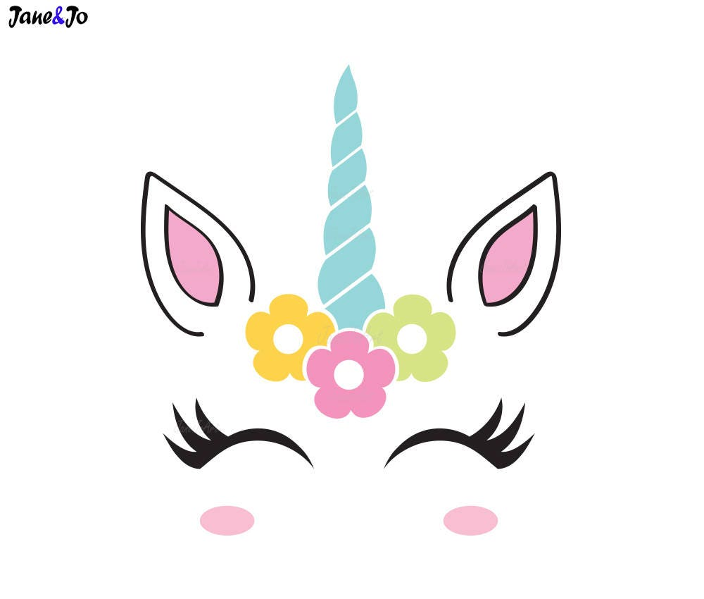 Unicorn Svg Unicorn Face Svg Unicorn Head Svg Unicorn