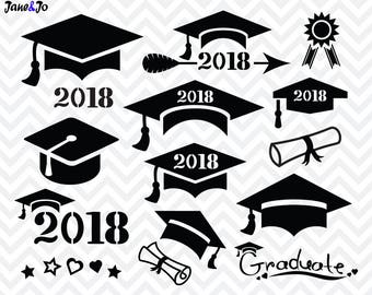 Graduation SVG ,Graduation Cap SVG,Graduation Svg Cut file,Graduation SVG Silhouette ,2018 Graduation Svg,Graduate svg,Graduation Hat svg