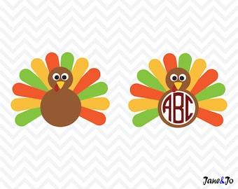 Turkey SVG, turkey cut file svg, Thanksgiving svg ,turkey vector,turkey svg,Turkey silhouette,Turkey monogram svg,turkey cut files svg eps