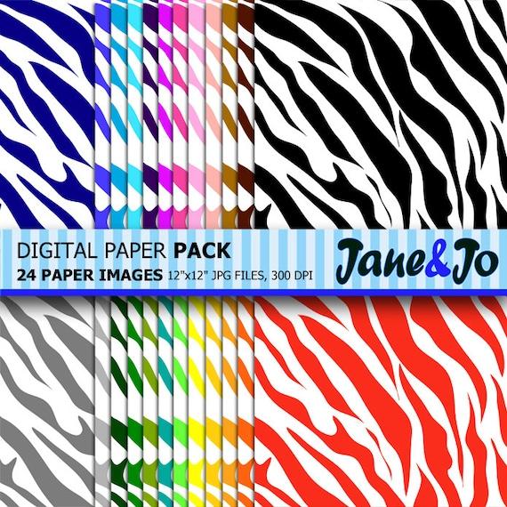 Zebra Digital Papercolorful Zebra Wallpaperrainbow Zebra Scrapbook Paperzebra Print Digital Paperzebra Pattern Background
