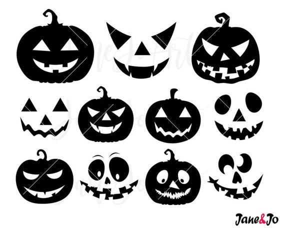 Halloween Jack-O-Lantern SVG Pumpkin Halloween faces svgcut