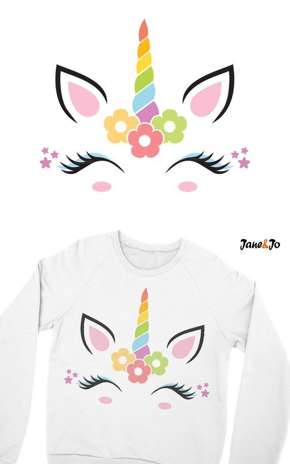 Unicorn SVG,Unicorn face Svg,Unicorn head Svg,Unicorn  Clipart,vector,DXF,Jpg png,Silhouette Cut Files ,Cricut,Cute Unicorn face  Svg,T-Shirt