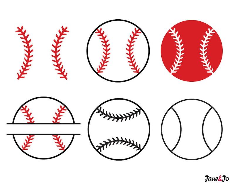 Baseball SVGBaseball SVG Cut filesBaseball monogram for image 0