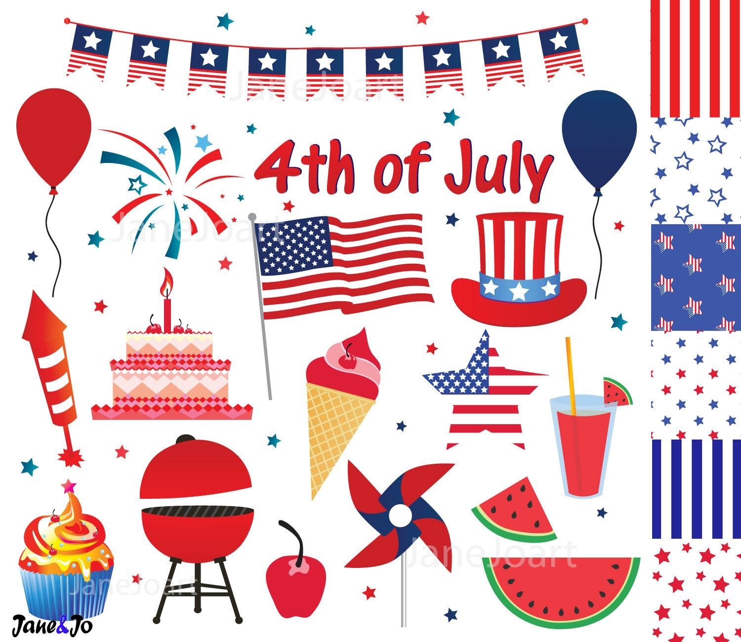 4th of July clipart Fourth of July clip art Independence ...