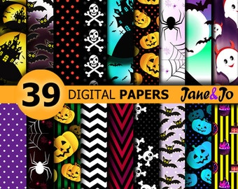 Halloween Digital Paper,Halloween papers,Halloween decor,Halloween Digital backgrounds,Halloween pattern Paper,Halloween Digital Paper Pack