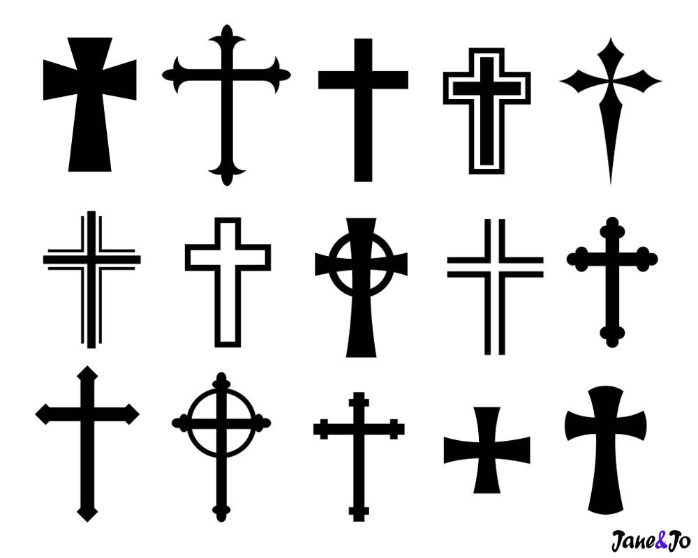 cross svgcross svg silhouette filescrosses vector png dxf etsy rh etsy com cliparts of crosses clip art of crossed fingers