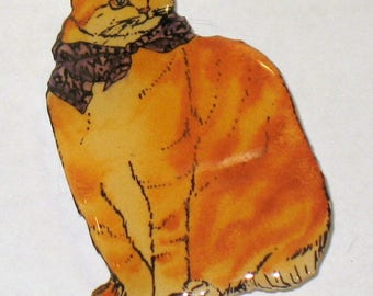 Orange Tabby Cat pin