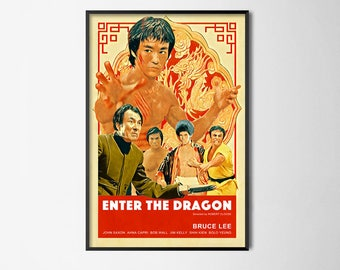 Enter the Dragon - Bruce Lee - Alternative Film Poster // Wall Poster // Home Decor // Office Art