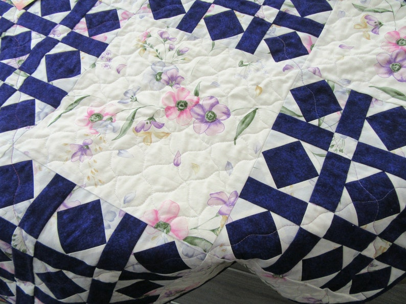 Floral Table Mat Reversible Table Protection Mat Purple Table Cover 32 x 32