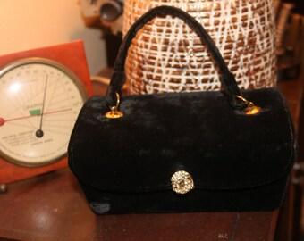 13e63885775b Beautiful Black Velvet Box Purse